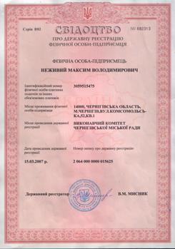 Положение о Реестре свидетельств о государственной регистрации.